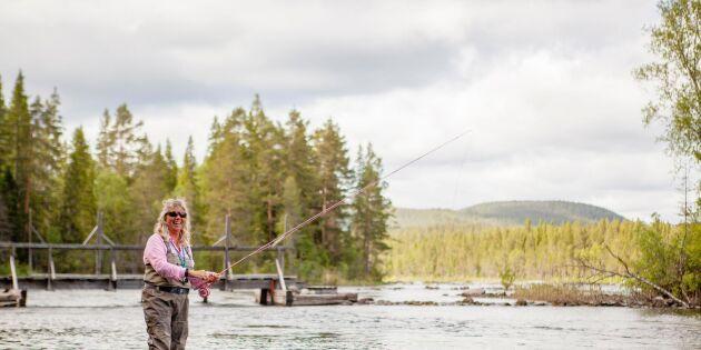 Efter stroken: Siv fiskade sig frisk