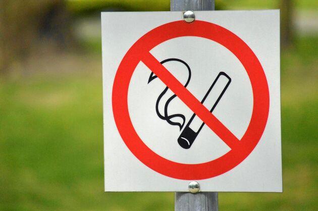 Förbjudet att röka här!