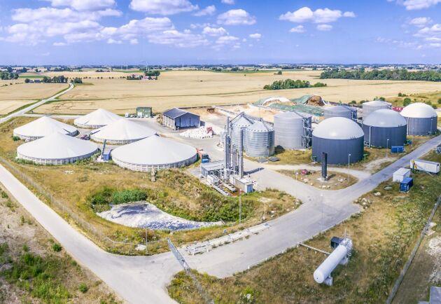 Gasums biogasanläggning i Jordberga.