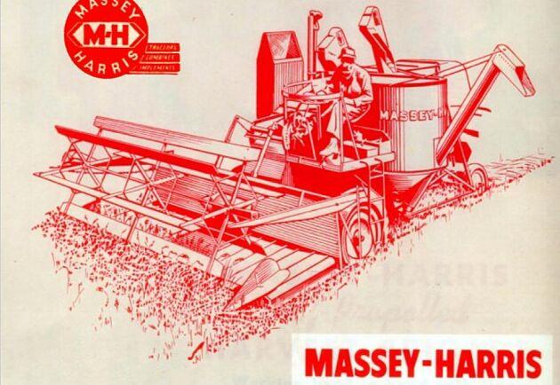 Annons för första moderna skördetröskan Massey-Harris MH-21.