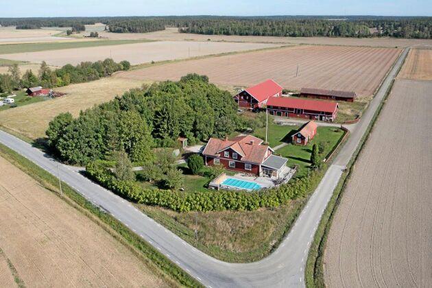 Betesmarken ligger i anslutning till gården.