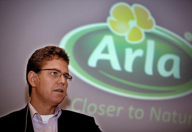 - Calciumprogrammet är inte ett nedskärningsprogram. Det är ett program där vi går in i en lång rad processer i Arla Foods, med syfte att sänka våra kostnader, säger Peder Tuborgh till ATL.