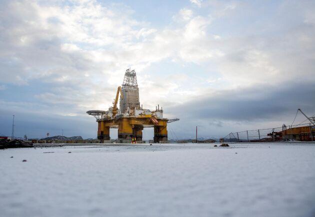Oljeplattformen Deepsea Atlantic utanför Bergen i Norge.