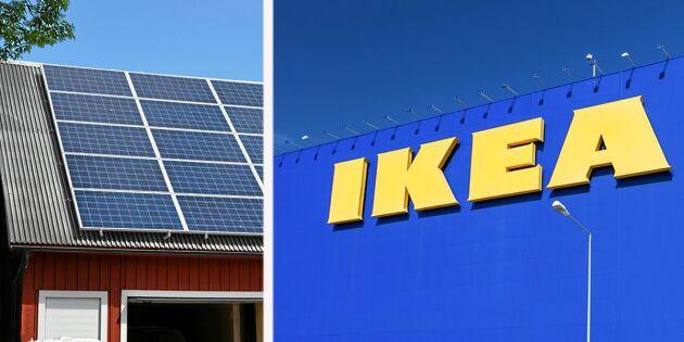 Ikea ska sälja solceller till lantbrukare