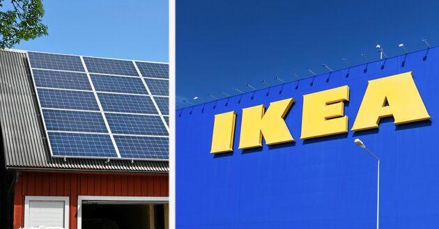 Efter sommaren kommer Ikea att börja sälja solcellspaket i Sverige.
