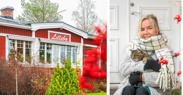 Inredaren Ewa Sköld trivs i sitt ljusa hem i torpet Lillebo.