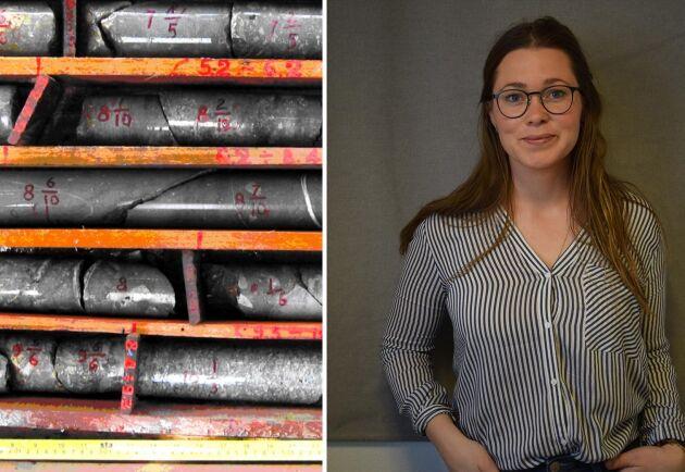 Carin Hoflund, äganderättsexpert på LRF Jönköping & sydost hjälper småländska markägare som berörs av mineralexploatering. Syftet var att leta efter nickel-, koppar- och koboltsulfid.