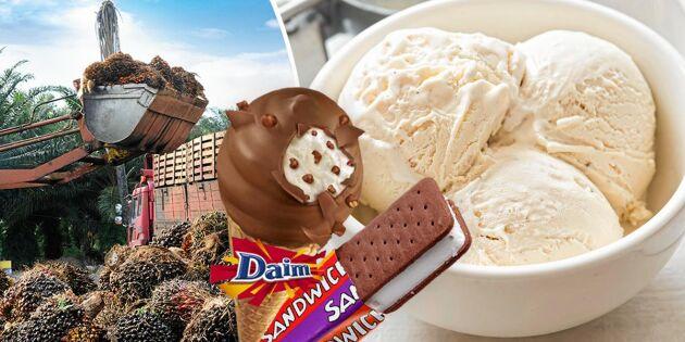 Här är de populära glassarna med palmolja!