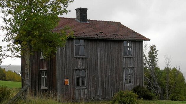 Västra fasaden –före.