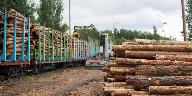 Svenska skogsråvaror ökade exporten 2017