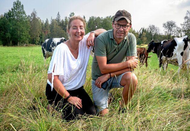 Carl-Johan Bertilsson och Ulrica Björnhag kompletterar varandra väl med sina olika yrkesbakgrunder, men intresset för affärer och mat har de gemensamt.