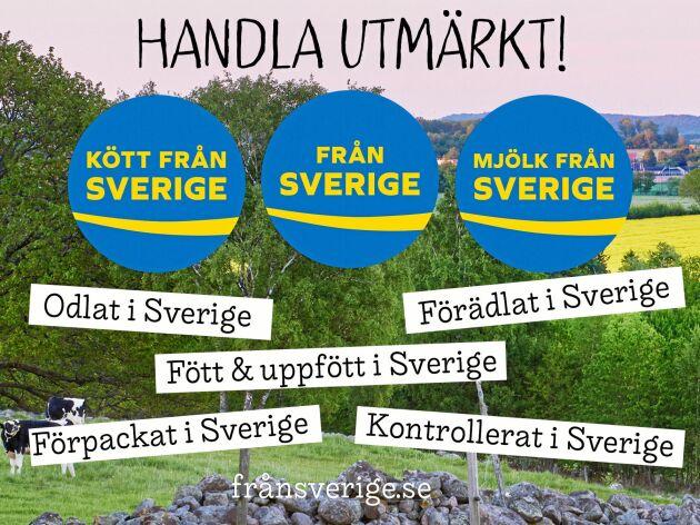 Håll utkik efter Från Sverige-märkningen i butik.