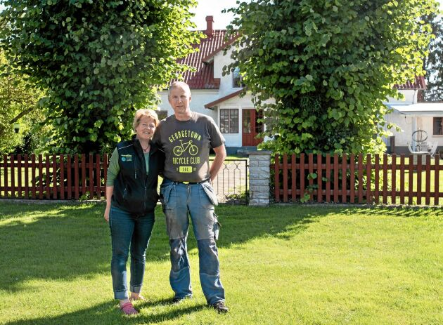 Jörgen Thomsson och Mari Håkansson på Mickelgårds Lantbruk i När socken på Gotland odlar linser. Gotlandslinser så klart! Foto: Susanne Norrby