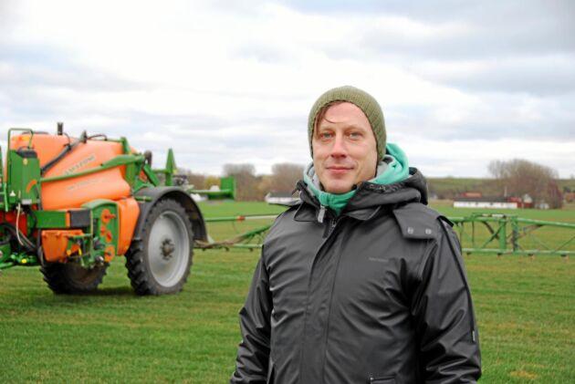 Mats Allmyr, utredare Kemikalieinspektionen, var på plats för att diskutera hur ogräsmedlet diflufenikan i sydsvenska ytvatten kan minskas.