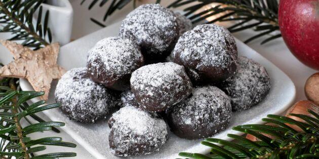 Chokladtryfflar med elegant smak av mint
