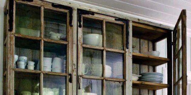 Återanvänd gamla fönster - 16 lantliga inredningsidéer