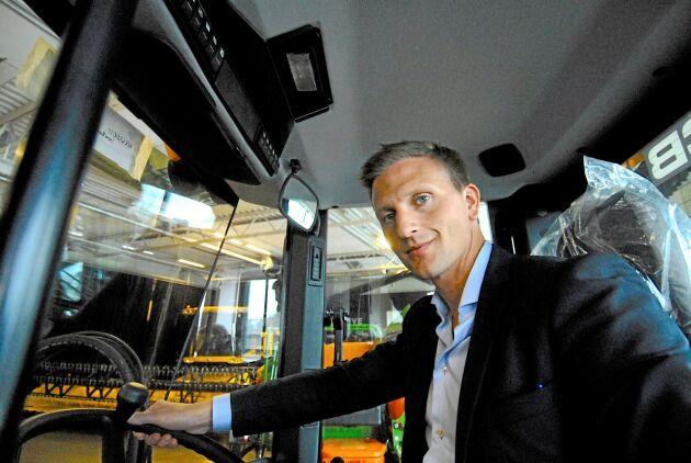 Mellby Gårds VD och delägare Johan Andersson är nöjd med bokslutet.