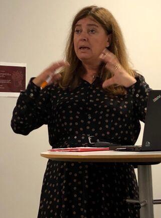 Karin Jelkeby är verksamhetschef på Mat.se och har lett arbetet med klimatdatabasen för bolagets räkning. På en presskonferens i veckan berättade hon om projektet.