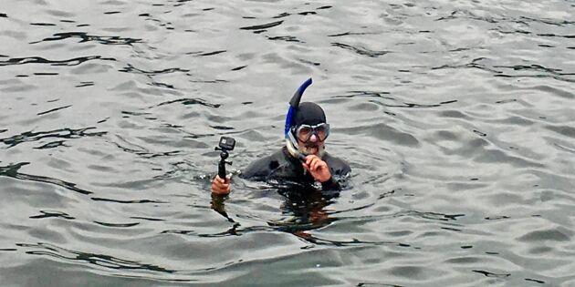 Stäms för att ha filmat fiskodling