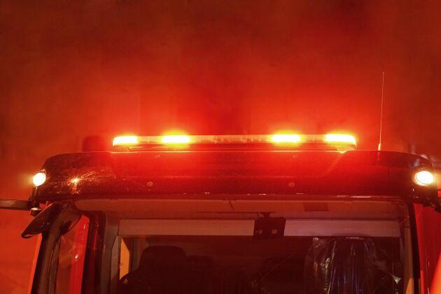 80 kor fick evakueras när en brand utbröt på en gård under natten.