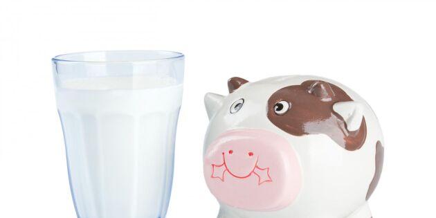 Högre pris men mindre mjölk