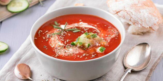 Gazpacho – kall tomatsoppa med sting