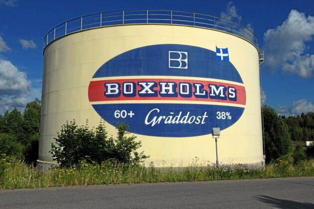 Nedläggningen av mejeriet i Boxholm väckte protester.