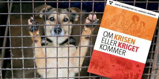 Kritiken mot MSB:s krisbroschyr: Husdjuren då?