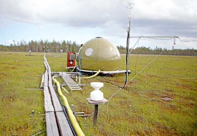 Med en nyutvecklad mätteknik har forskare lyckats mäta kvicksilverflöden till och från Degerö stormyr i Västerbotten under ett års tid.