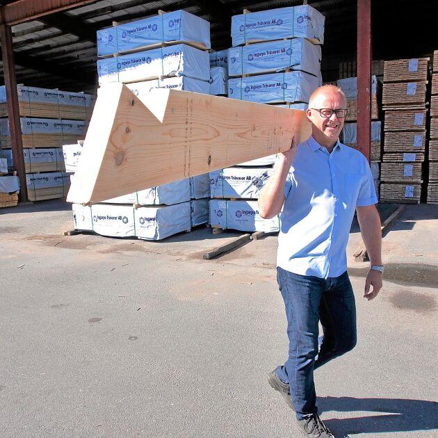 Nicklas Gerhardsson är framgångsrik vd och ägare till Ingarps Trävaror.