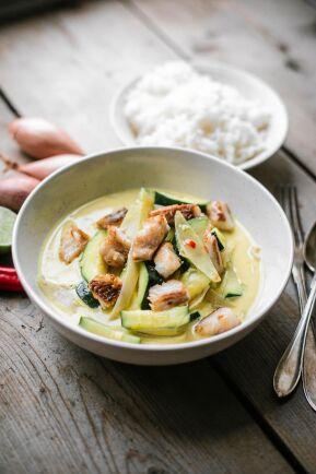 Thaigryta på rödstrimma är riktig må bra-mat full av smak och nyttigheter.