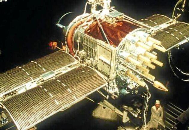 """Den allra första GPS-satelliten """"Block 1"""" skickades upp i rymden i februari 1978."""