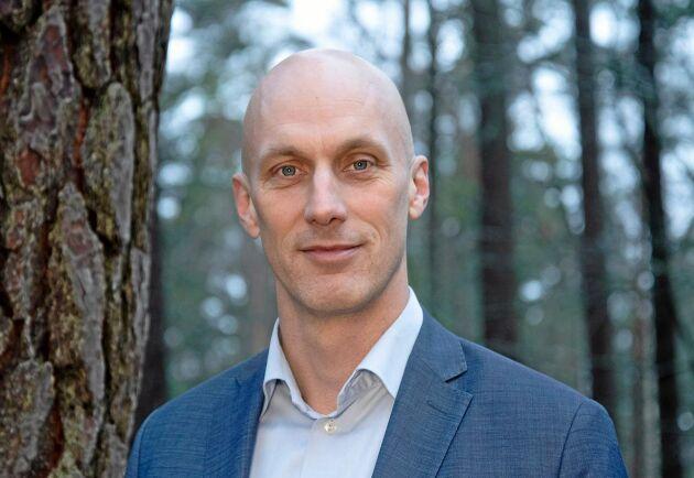 """""""Omvärlden fortsätter att vara osäker men Mellanskogs verksamhet är stabil"""", säger Fredrik Munter."""