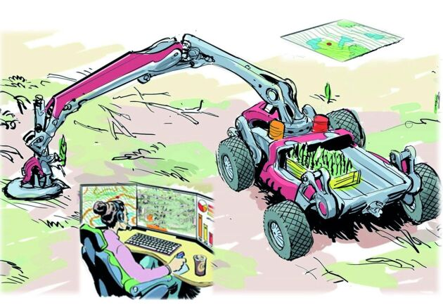En visionsbild som visar hur Autoplant skulle kunna se ut.
