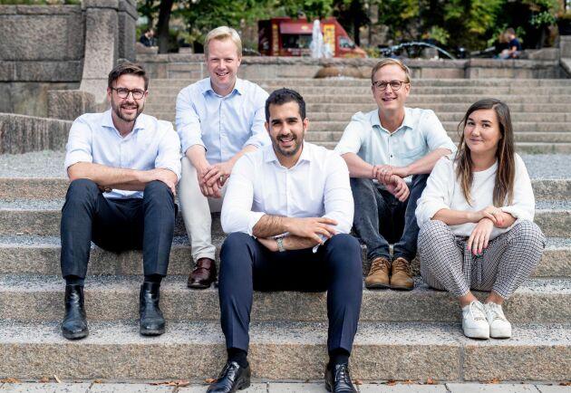 Virkesbörsens Per Hedberg, Johan Wachtmeister, Adam Aljaraidah, Carl Johan Moberg, Caroline Brander.