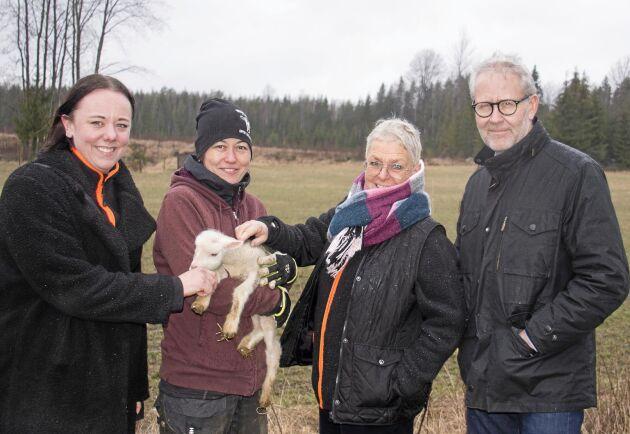 Caroline Fröling, projektkoordinator, Keiko Schönberg, Öxnevåls gård, Pia Proper, Säffle kommun och Jonas Enström, projektledare.