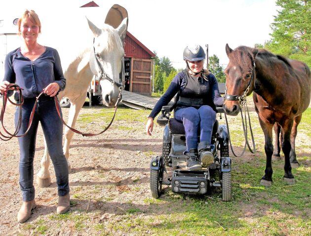 För Elise Nilssons dotter Linn betyder den akademiska ridkonsten oerhört mycket. Både för att det är roligt och för att rörelserna stimulerar hennes kropp.