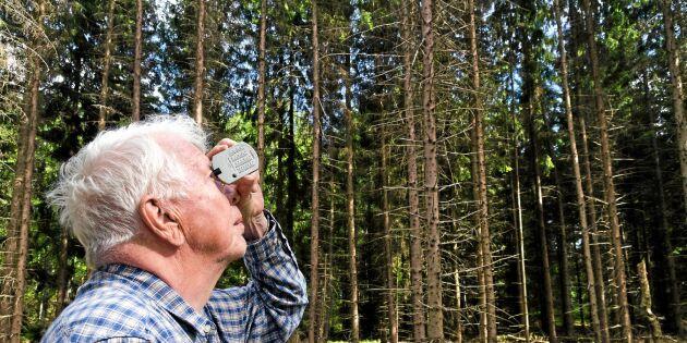 Rune blev skogsägare vid 73