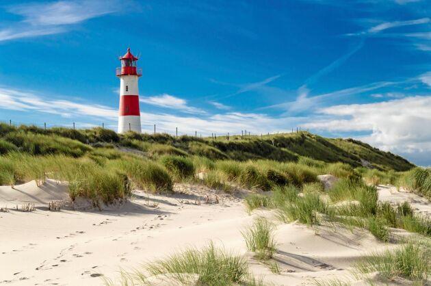 Lighthouse List på tyska ön Sylt, som tillhör de Nordfrisiska öarna.