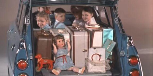 Bilnostalgi - så här fick man plats med allt i bagageutrymmet