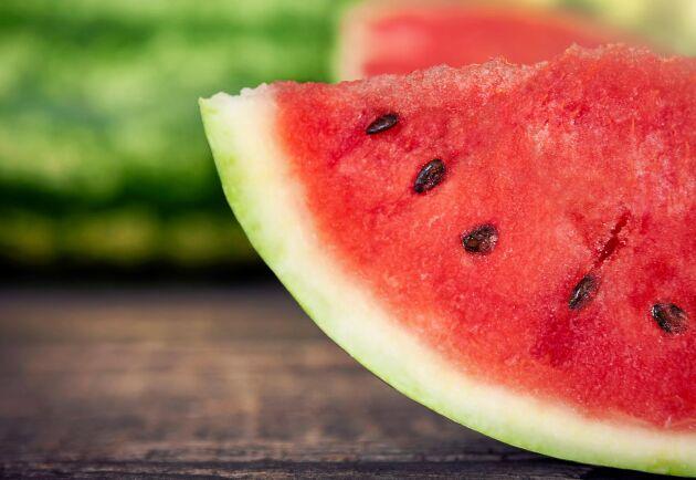 En stor andel av den vattenmelon som säljs i svenska butiker kommer från Brasilien.