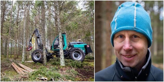 Hans skördare är unik i Sverige