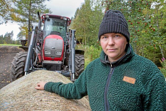 """""""Det värsta var oron över att korna kanske kunde bli smittade av hjortarna"""", säger Anna Karin Sundberg."""