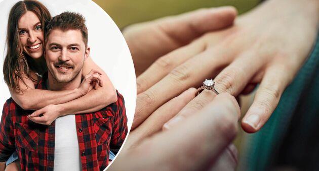 """Susanna Karlsson och Hannes Haraldsson fann varandra i """"Bonde söker fru"""" 2018, nu har de förlovat sig."""
