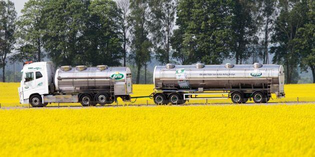 Mängden svensk mjölk i Arla minskar