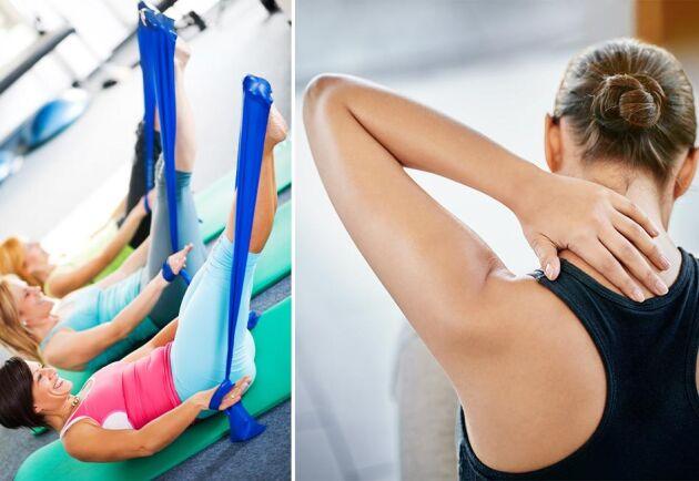 Enkla men effektiva övningar lindrar smärta i axlar och skuldror.