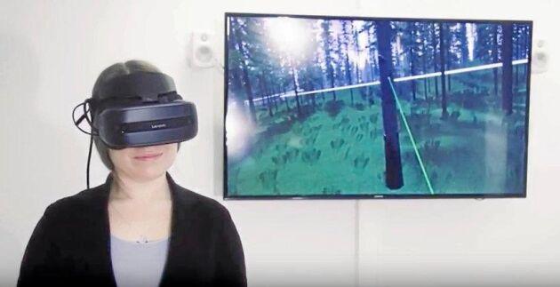 Finska Metsä Group börjar göra skogsbruksplaner med drönare. Samtidigt produceras också en virtuell skog som skogsägaren kan besöka med hjälp av VR-glasögon.