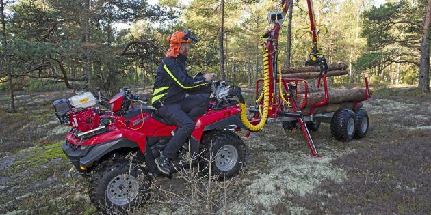 Populära köp: ATV och liten skogsvagn