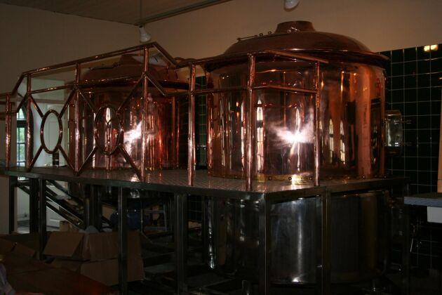 Mindre bryggerier utgör 96 procent av antalet bryggewrier i Sverige. Här från ett mikrobryggeri i Eskiltuna.