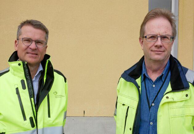 Jan Mauritzson, VD på Lantmännen Agroetanol. och Bo Hellstedt på Lantmännen Agroetanol.